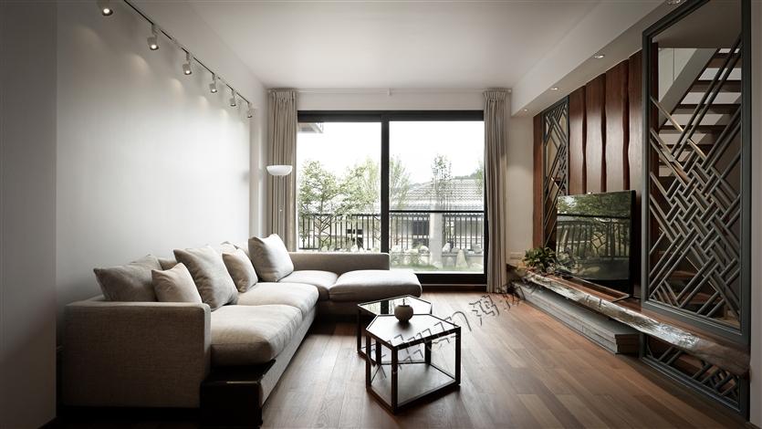 混搭 别墅 收纳 小资 客厅图片来自鸿扬家装武汉分公司在碧桂园之文士雅风的分享