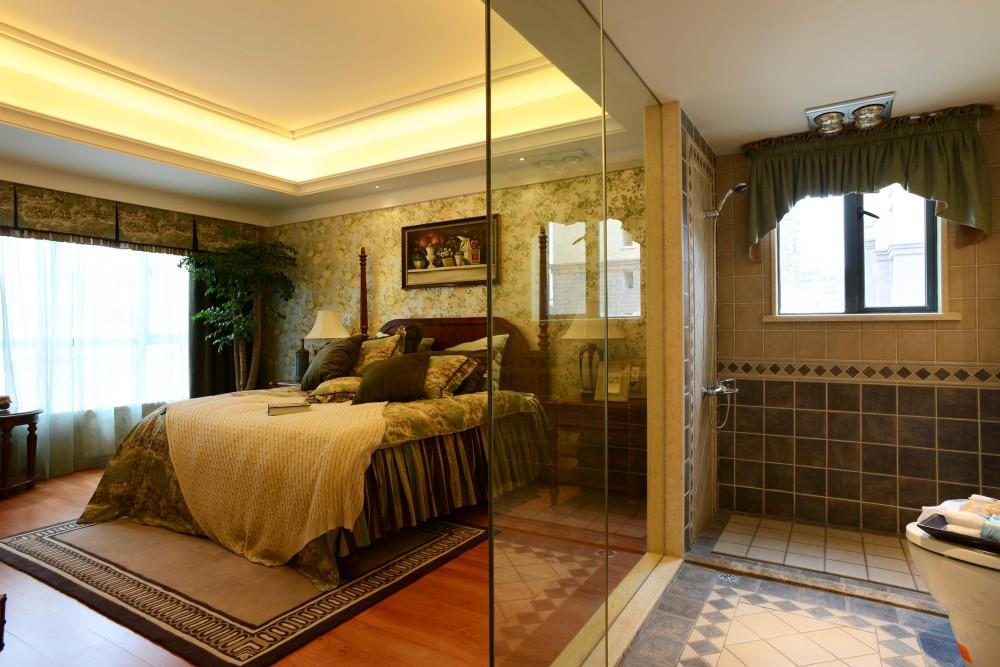 复式 美式 大气 卧室图片来自九鼎建筑装饰工程有限公司成都分在绿地锦天府复式住宅美式风格的分享