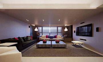 嘉富丽苑114平混搭风格三室装修