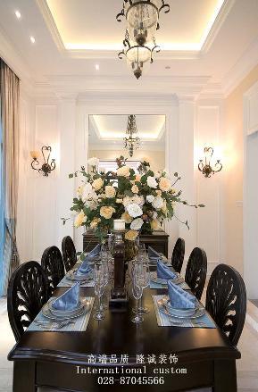 简约 欧式 别墅 旧房改造 舒适 温馨 收纳 餐厅图片来自fy1831303388在雅居乐简欧实景照片的分享