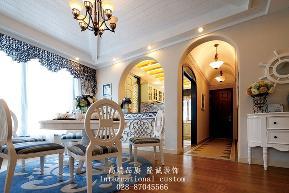 复式 舒适 温馨 地中海 旧房改造 收纳 80后 白领 小资 餐厅图片来自fy1831303388在置信牧山丽景的分享