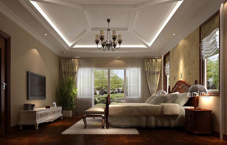 别墅 欧式 装修 设计 卧室图片来自张邯在高度国际-保利垄上的分享