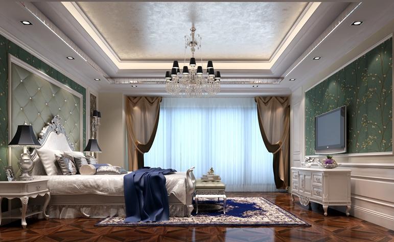 欧式 别墅 卧室图片来自居众装饰东莞分公司在南城国际公馆-欧式风格-360平米的分享