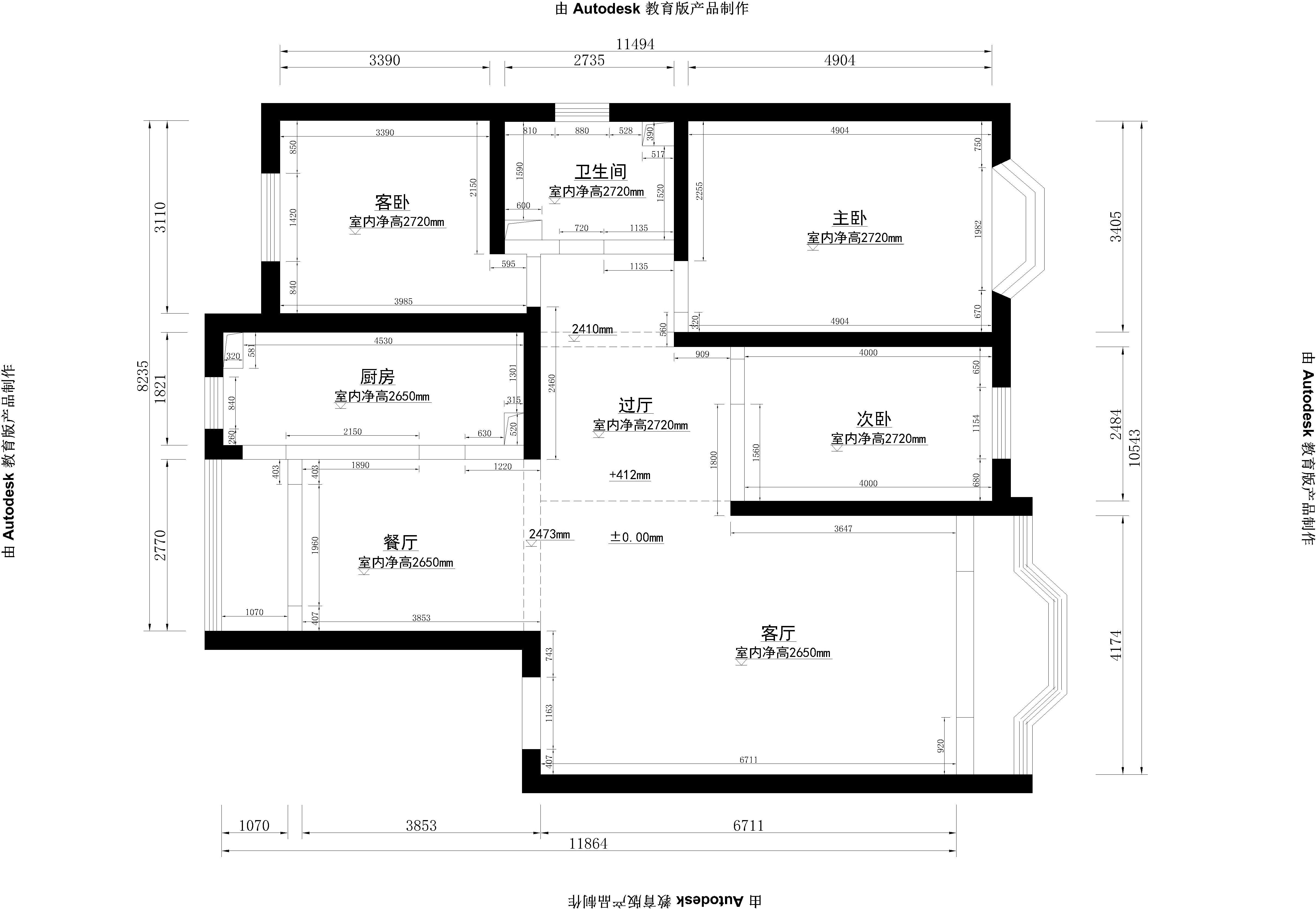 简约 三居 梵客家装 户型图图片来自天津梵客家装实景体验馆在137米兰金狮平|现代简约风格的分享