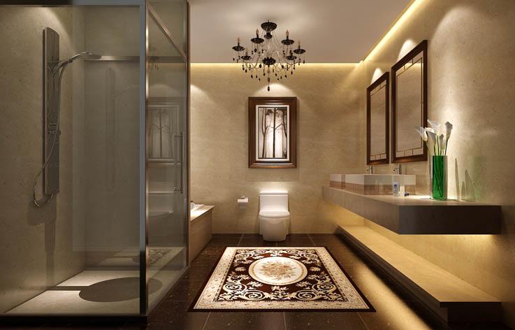 装修 设计 田园 别墅 卫生间图片来自张邯在高度国际-达观别墅的分享