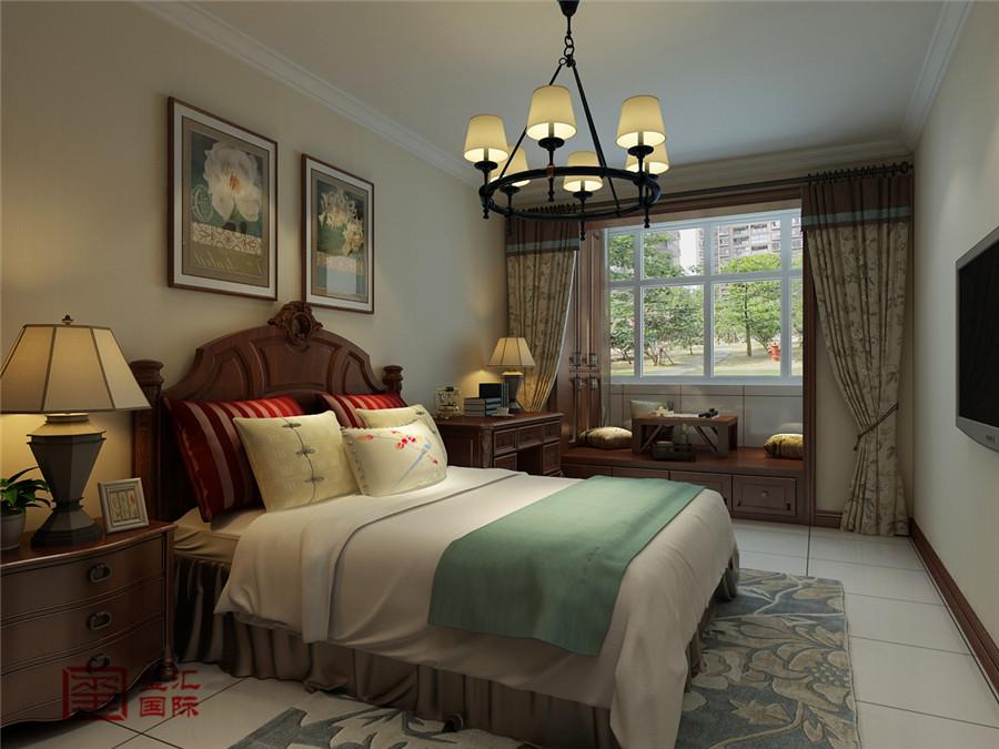 简美风格 三居 玺汇国际 卧室图片来自河北玺汇国际装饰公司在金鹏花园158平简美风格的分享