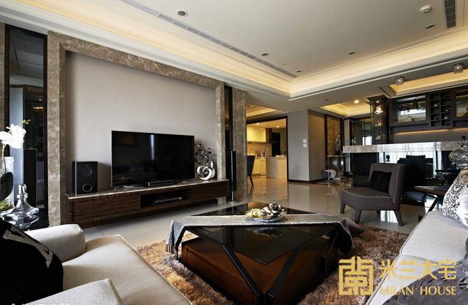 欧式 三居 白领 收纳 客厅图片来自米兰大宅设计会所在现代简欧的分享