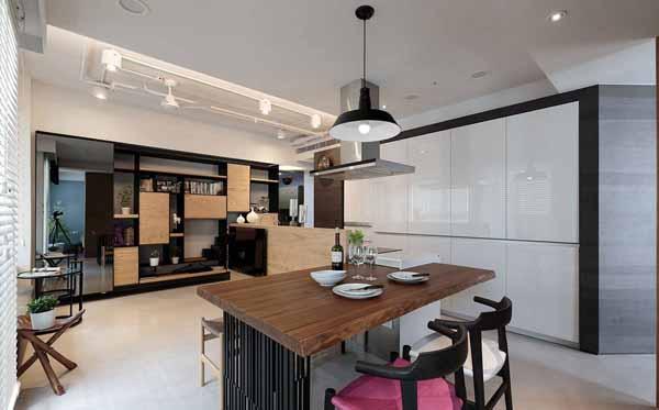 简约 旧房改造 80后 餐厅图片来自上海潮心装潢设计有限公司在静安新城59平简约风格一居室装修的分享