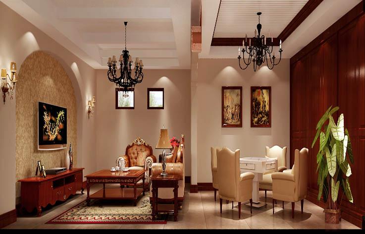 田园 别墅 装修 设计 高度国际 客厅图片来自张邯在高度国际-龙山逸墅的分享