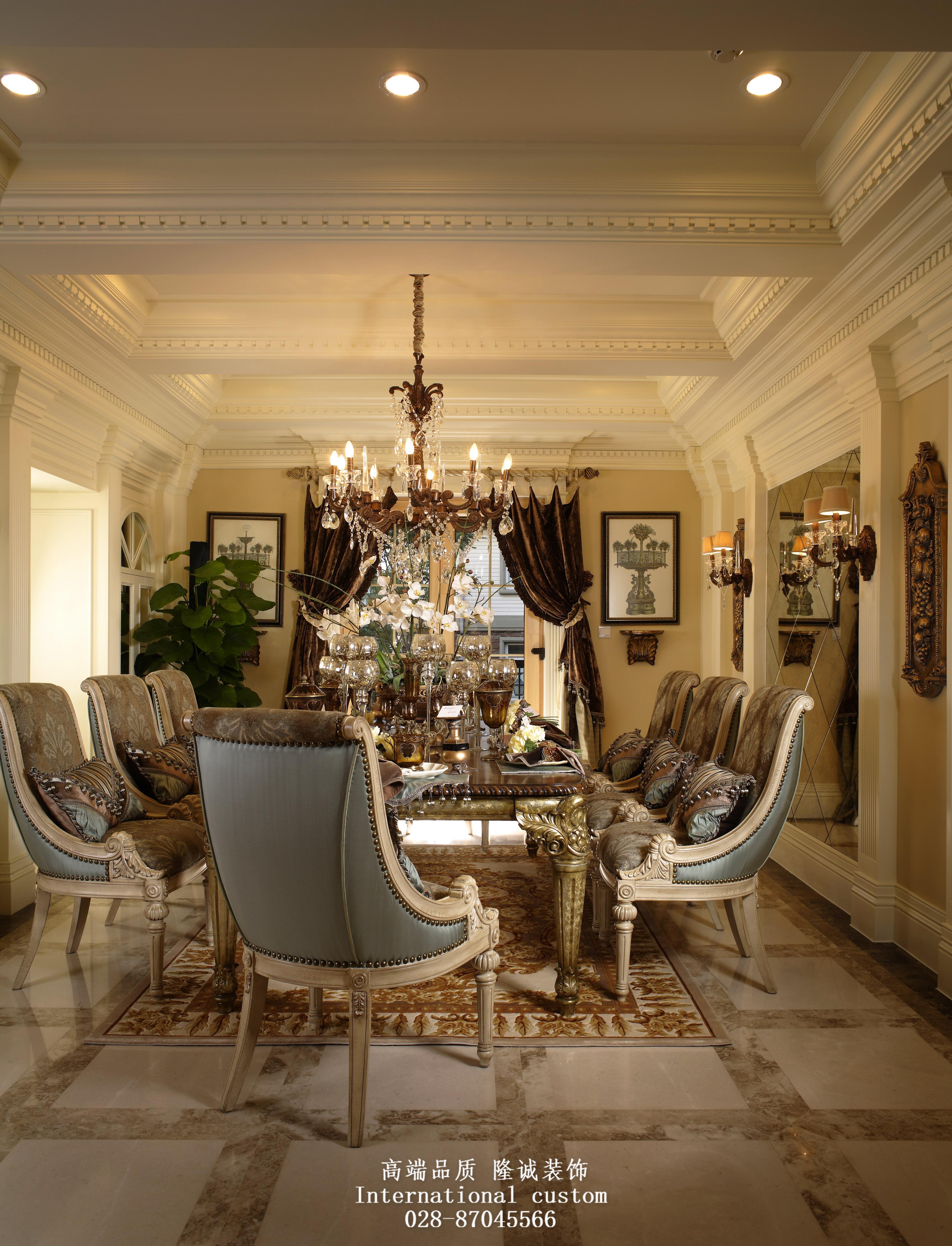 欧式 别墅 收纳 旧房改造 舒适 温馨 80后 餐厅图片来自fy1831303388在紫檀山欧式新古典的分享
