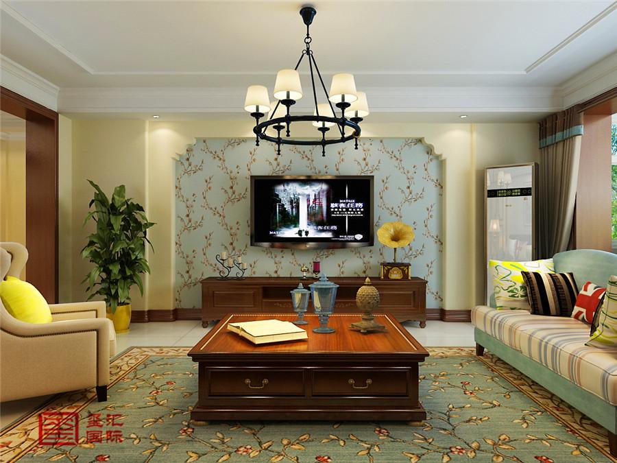 简美风格 三居 玺汇国际 客厅图片来自河北玺汇国际装饰公司在金鹏花园158平简美风格的分享