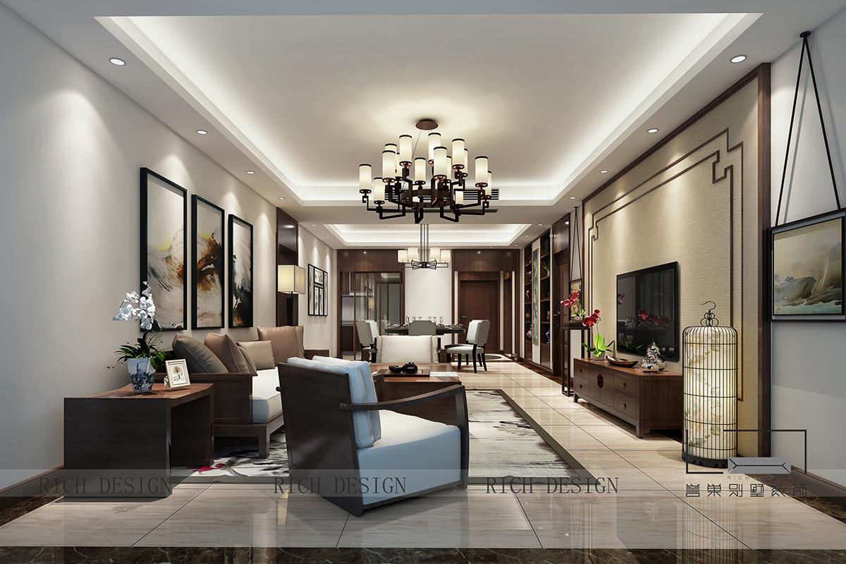 客厅图片来自浩天装饰-小陈在中州二期的分享
