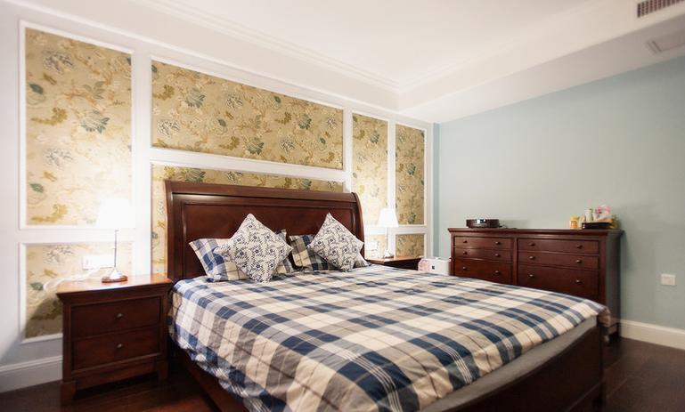 美式 二居 80后 卧室图片来自武汉全有装饰在金地雄楚一号---美式的分享