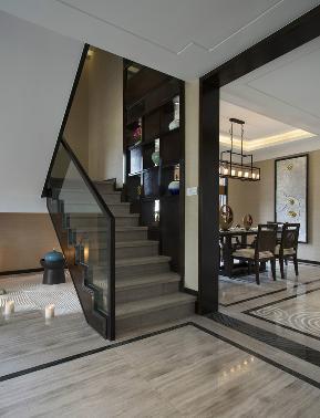 简约 中式 别墅 白领 80后 北京院子 北京装修 别墅装修 楼梯图片来自京扬尚赫装饰设计中心在泰禾北京院子中式风的分享