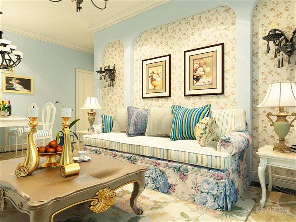 客厅图片来自阳光力天装饰在地中海 汉滨城市花园  92㎡的分享