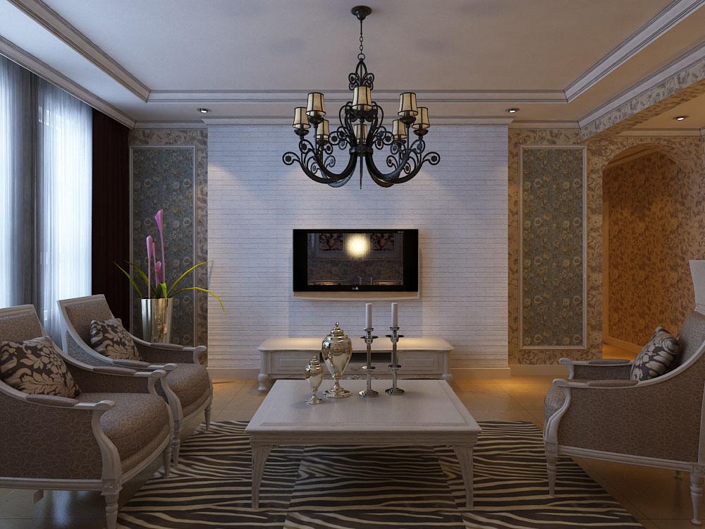 美式风格 林凤装饰 白领 80后 小资 客厅图片来自沈阳林凤装饰装修公司在金地艺境-美式-三居的分享