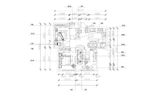 一进入户门就能看到放在角落里的鞋柜,位置和空间正合适,入户门左侧是家庭的厨房,我根据空间的大小和形状设计成L形状橱柜。