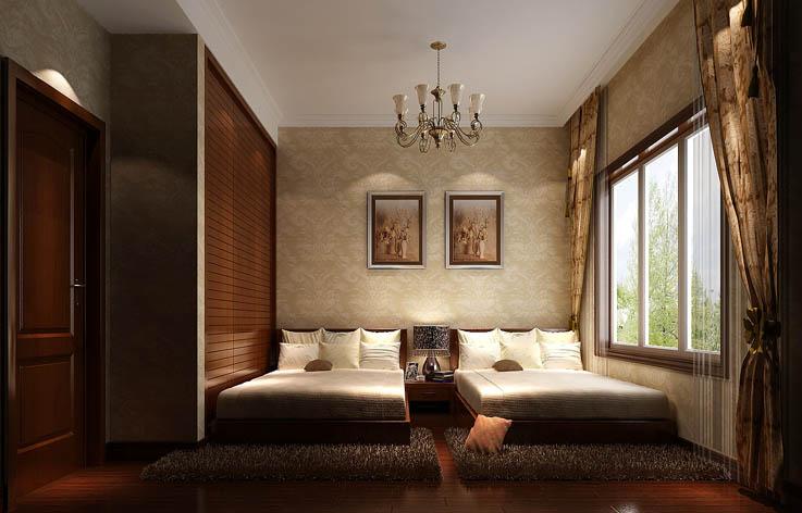 别墅 80后 装修 设计 卧室图片来自张邯在高度国际-红杉溪谷2的分享