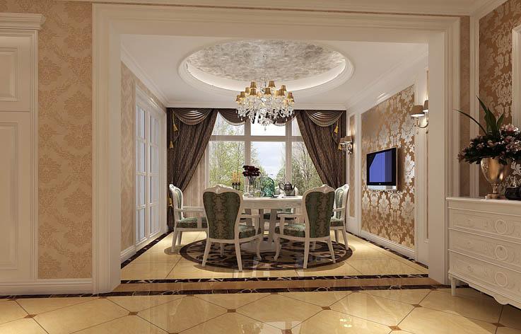 欧式 三居 装修 设计 餐厅图片来自张邯在高度国际-鲁能7号院的分享