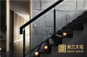 简约 现代 复式 小资 楼梯图片来自米兰大宅设计会所在益阳碧桂园-现代简约的分享