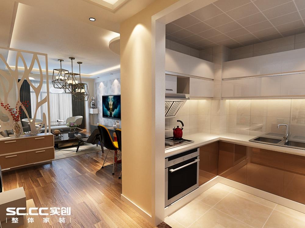二居 简约 厨房图片来自哈尔滨实创装饰阿娇在江北万达旅游城88平现代简约两居的分享