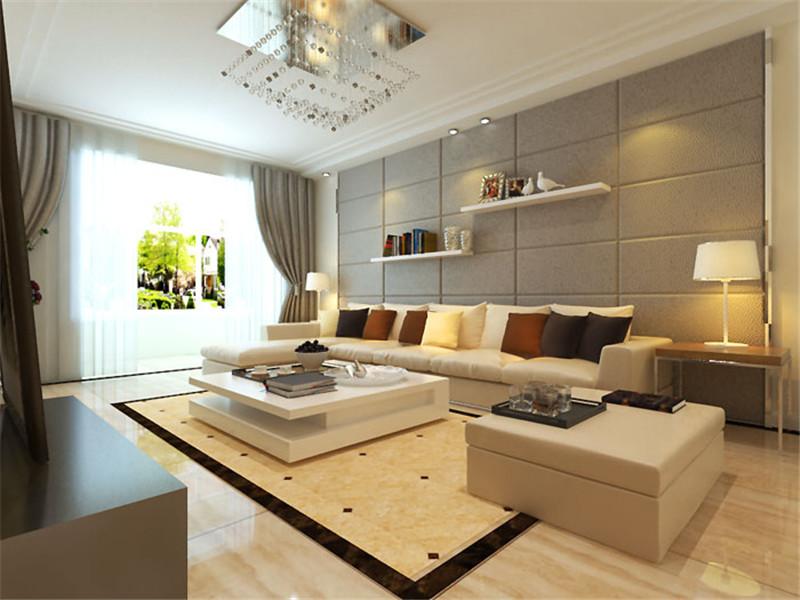 客厅图片来自湖南名匠装饰在澳海澜庭2室2厅1卫85.10平的分享