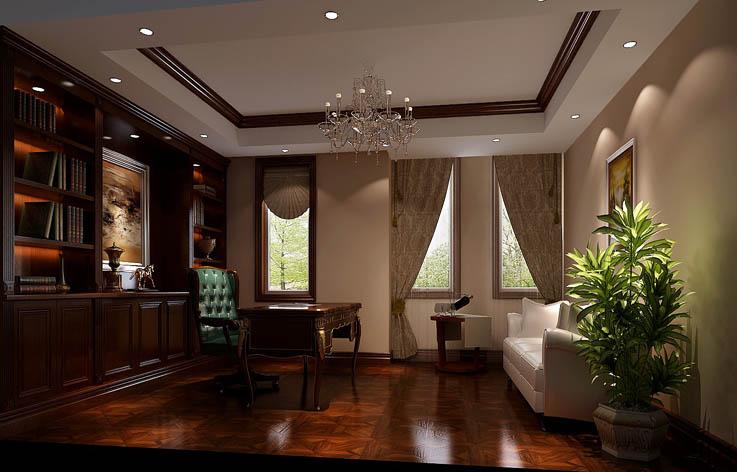 别墅 80后 装修 设计 书房图片来自张邯在高度国际-红杉溪谷2的分享