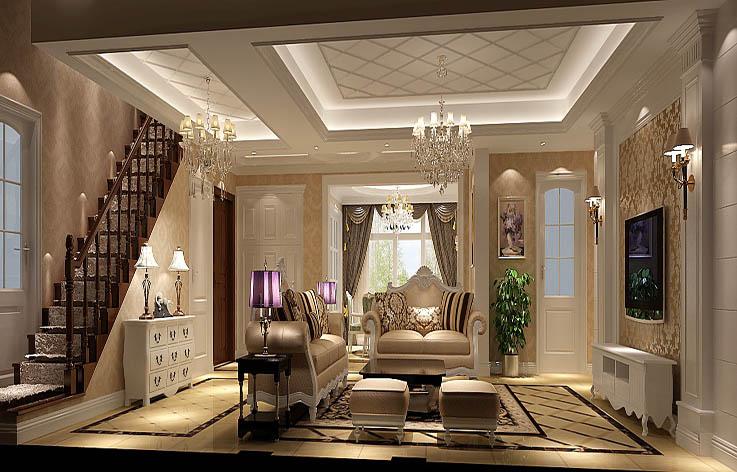 欧式 三居 装修 设计 客厅图片来自张邯在高度国际-鲁能7号院的分享