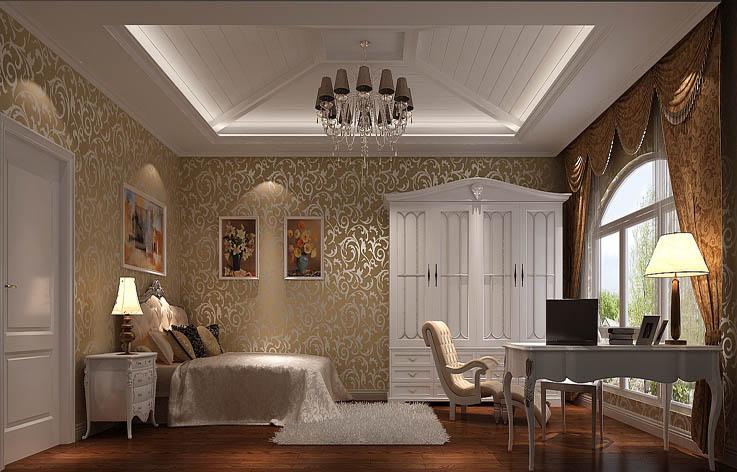 欧式 三居 装修 设计 卧室图片来自张邯在高度国际-鲁能7号院的分享