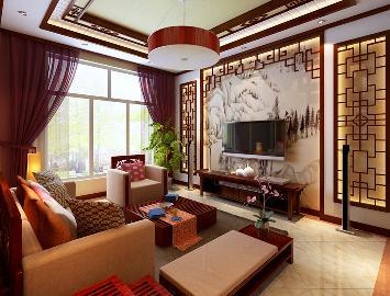 京贸国际公馆独栋别墅中式风格