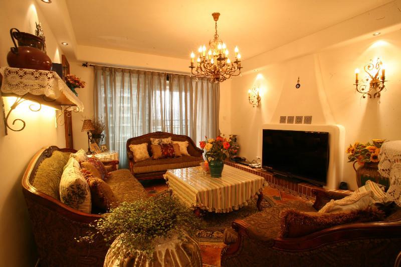 客厅图片来自北京居然元洲装饰小尼在天通苑地中海乡村混搭浪漫温馨的分享