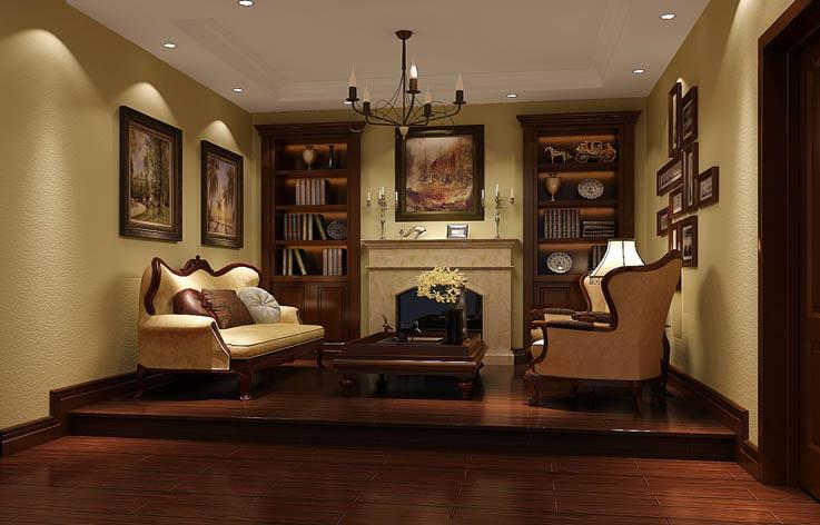 欧式 别墅 装修 设计 书房图片来自张邯在高度国际-中海尚湖世家2的分享