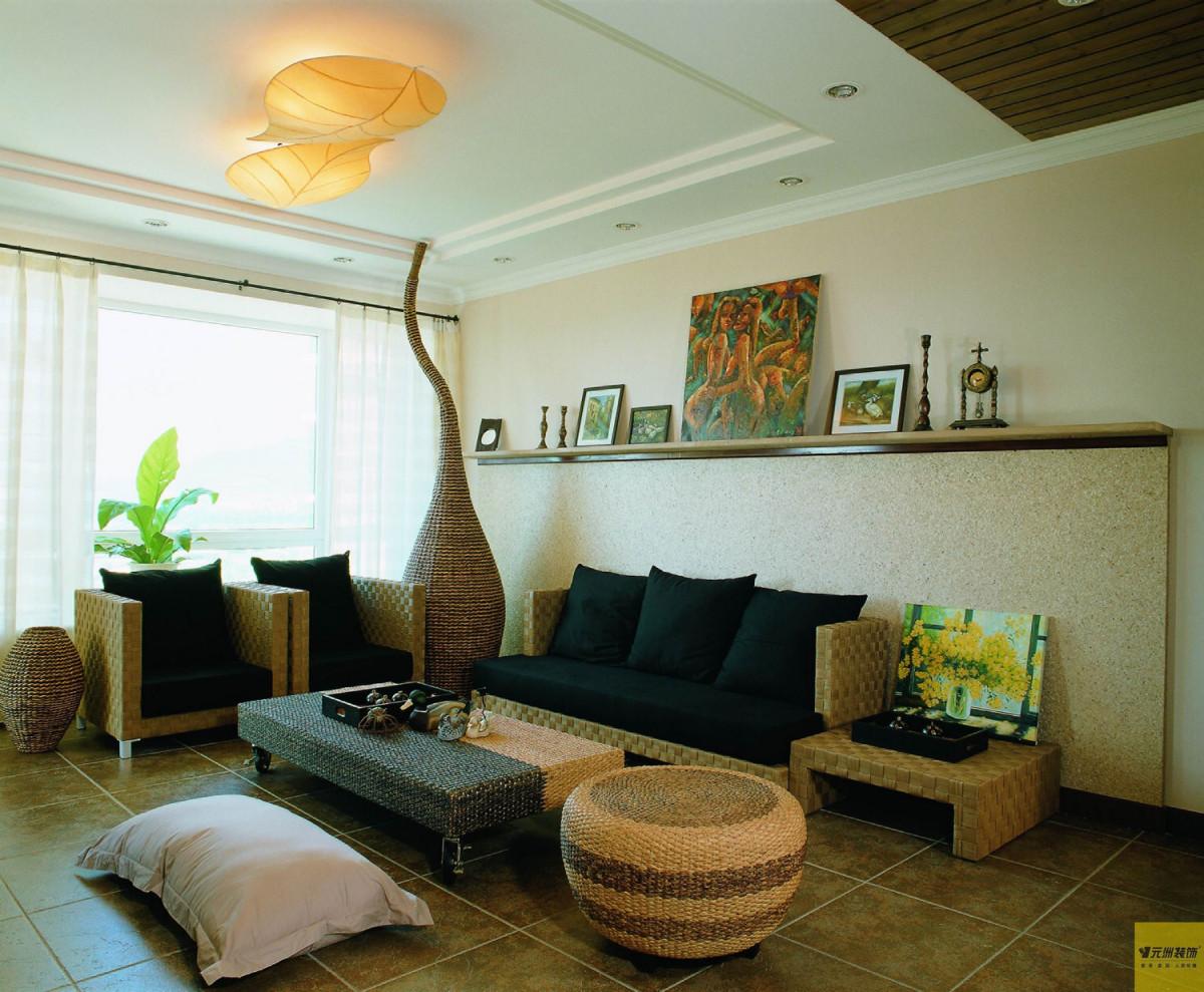 客厅图片来自北京居然元洲装饰小尼在润泽公馆田园风格回归大自然的分享