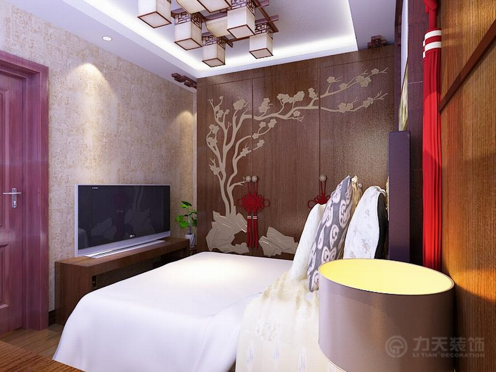 卧室图片来自阳光力天装饰在中式   经纬城市绿洲  53㎡的分享