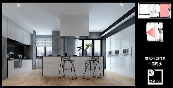 复地的房子有三层,一层的餐饮会客空间,二层的居住空间以及地下室的娱乐空间。二层的主色调是黑色与灰色,天花板为白色,家具、墙砖、地砖都是哑光亮度,营造的是一种静谧高雅的气氛。