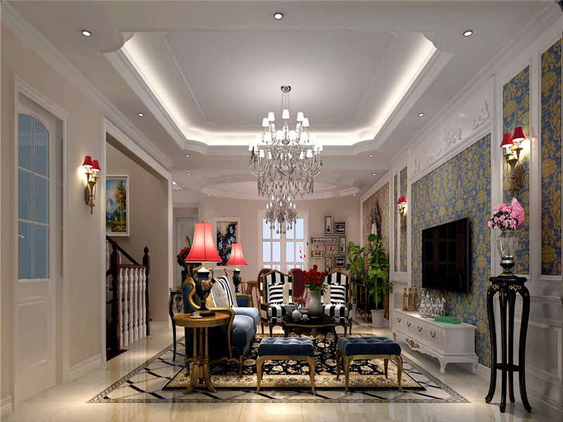 欧式 新古典 欧式新古典 别墅 格林云墅 客厅 客厅图片来自沙漠雪雨在格林云墅300平米欧式新古典大宅的分享