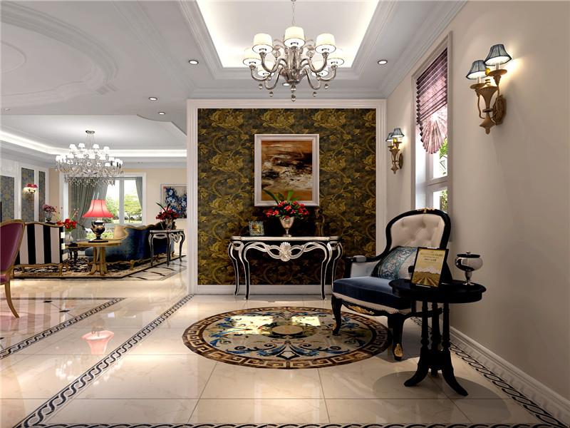 欧式 新古典 欧式新古典 别墅 格林云墅 客厅 玄关图片来自沙漠雪雨在格林云墅300平米欧式新古典大宅的分享