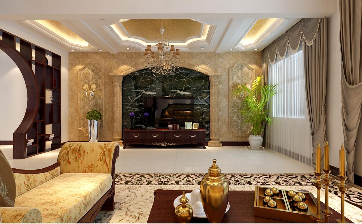 欧式 小资 80后 收纳 白领 复式 客厅图片来自天津实创装饰赵在【天津实创】古典欧式-复式装修的分享