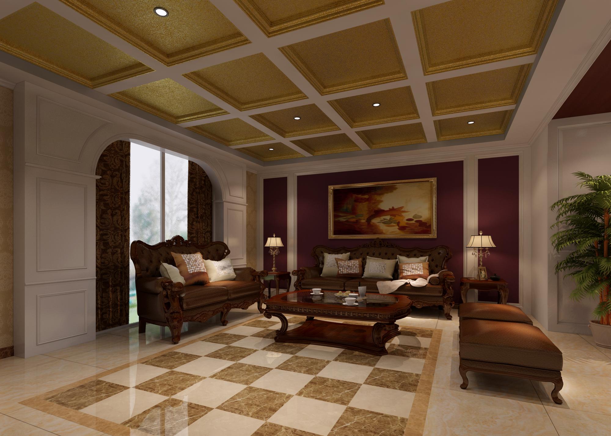 别墅 复式 客厅图片来自武汉一号家居网装修在金地圣爱米伦385平欧式复式洋房的分享