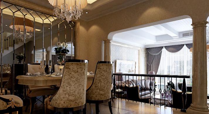 梵客家装 天津梵客 欧式 别墅 餐厅图片来自天津梵客家装Q在梵客家装-碧湖苑263平米-欧式的分享