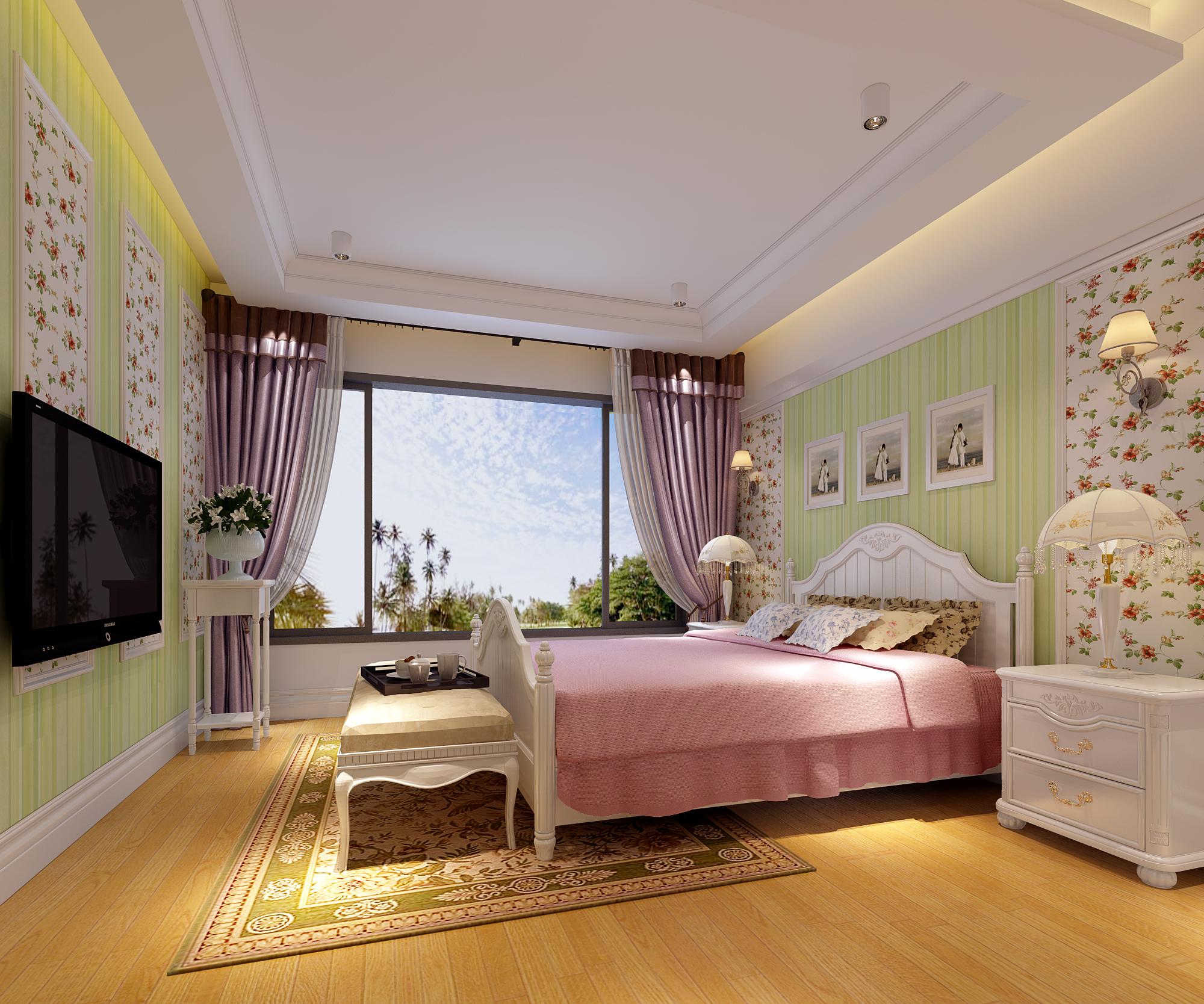 别墅 复式 卧室图片来自武汉一号家居网装修在金地圣爱米伦385平欧式复式洋房的分享