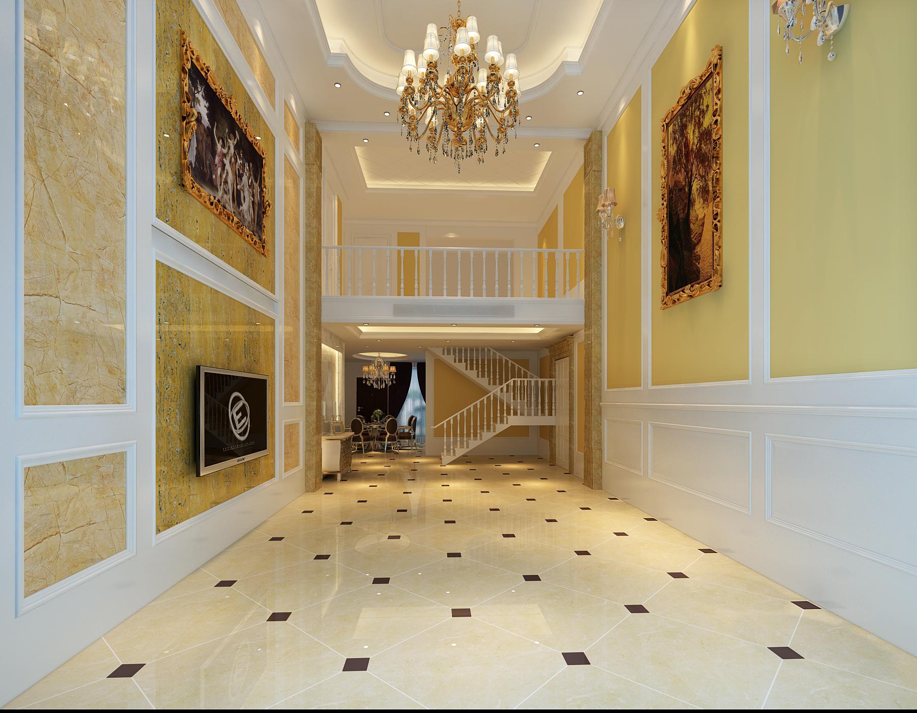 别墅 复式 楼梯图片来自武汉一号家居网装修在金地圣爱米伦385平欧式复式洋房的分享