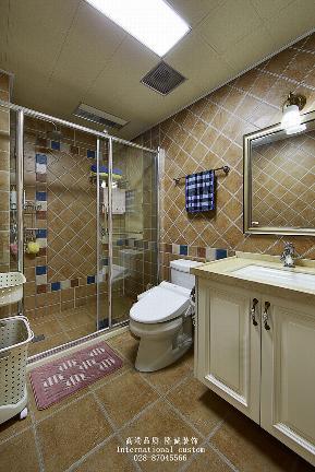 三居 白领 收纳 旧房改造 80后 小资 舒适 温馨 美式 卫生间图片来自fy1831303388在爱汀府的分享