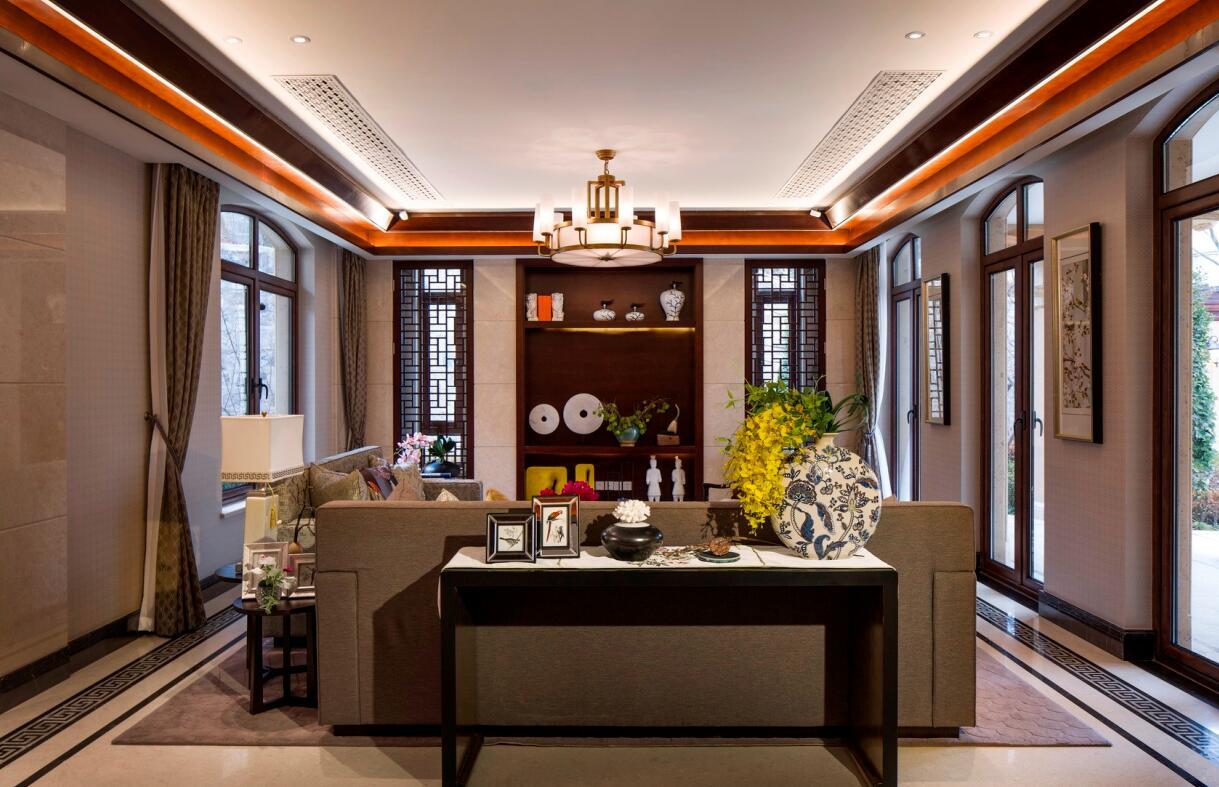 简约 欧式 田园 混搭 三居 别墅 收纳 旧房改造 二居 客厅图片来自紫禁尚品国际装饰高晓媛在简单大气的新中式风格的分享