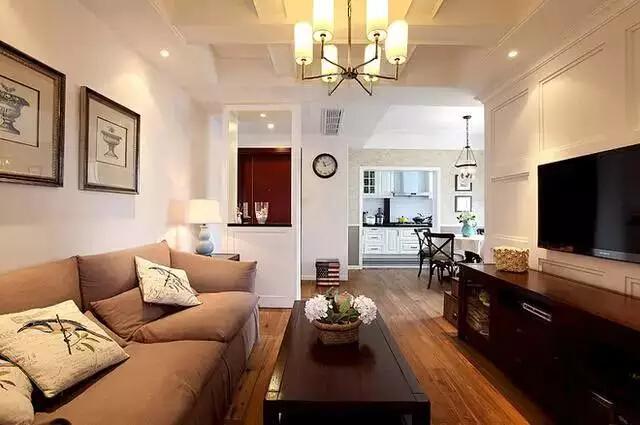 简约 美式 二居 旧房改造 客厅图片来自实创装饰上海公司在82㎡美式小房子也能装出高逼格!的分享