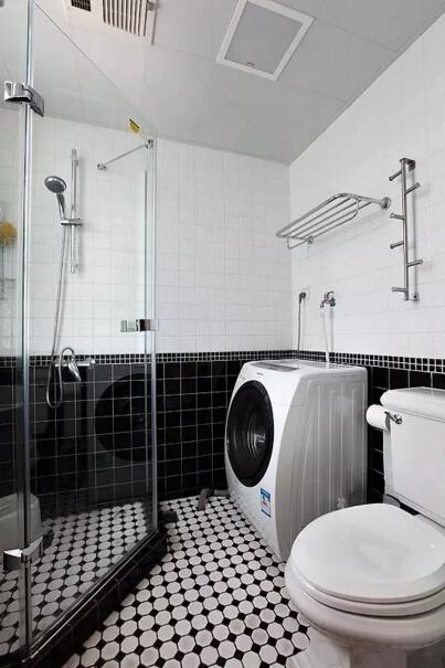 简约 美式 二居 旧房改造 卫生间图片来自实创装饰上海公司在82㎡美式小房子也能装出高逼格!的分享