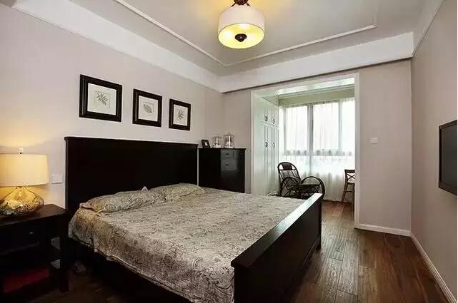 简约 美式 二居 旧房改造 卧室图片来自实创装饰上海公司在82㎡美式小房子也能装出高逼格!的分享