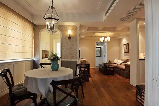 简约 美式 二居 旧房改造 餐厅图片来自实创装饰上海公司在82㎡美式小房子也能装出高逼格!的分享