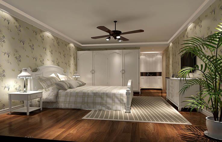 田园 三居 装修 设计 卧室图片来自张邯在高度国际-长滩壹号的分享