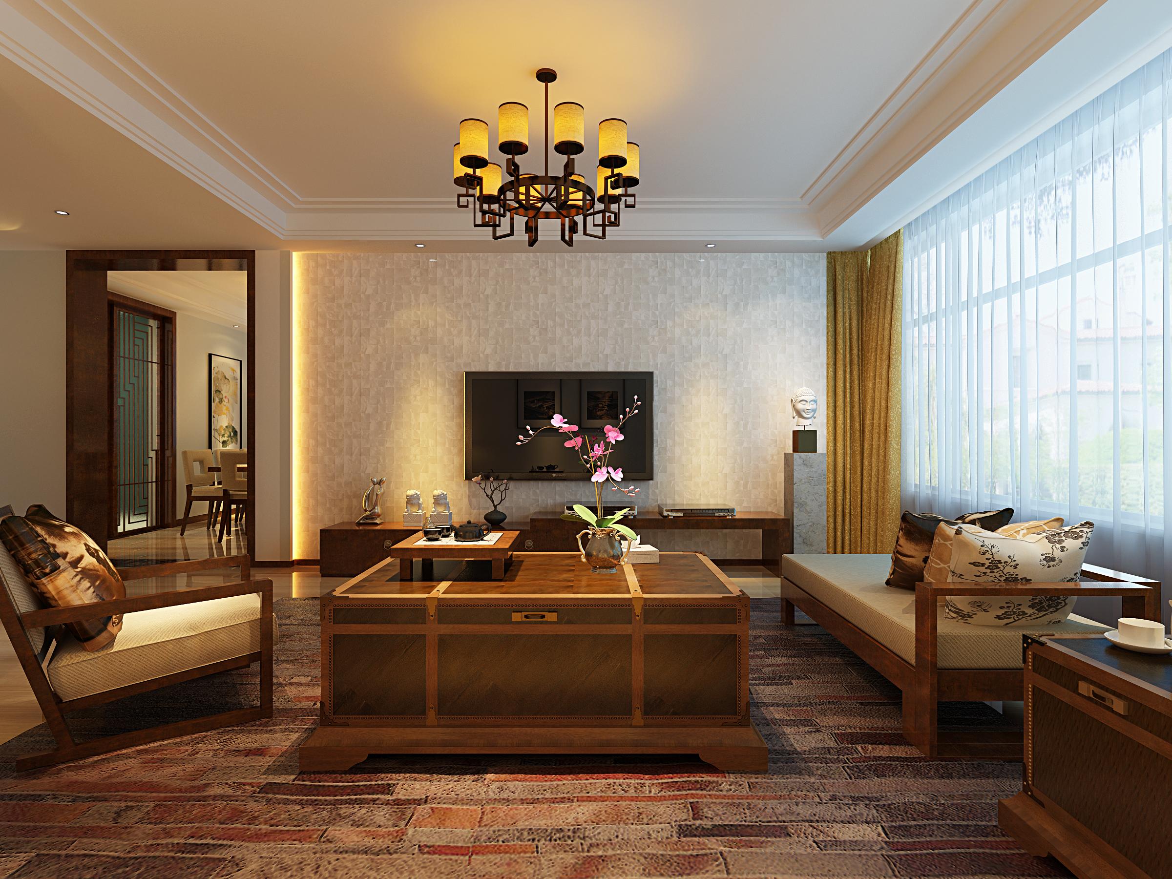 新中式 玉泉 龙苑 客厅图片来自业之峰太原分公司在玉泉龙苑的分享